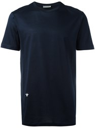 Christian Dior Homme Bee Embroidered T Shirt Blue