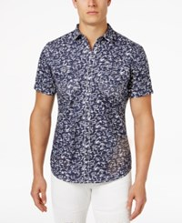 Inc International Concepts Men's Swirl Print Cotton Shirt Only At Macy's Multi