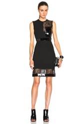 Christopher Kane Patent And Sheer Panel Bodycon Dress In Black