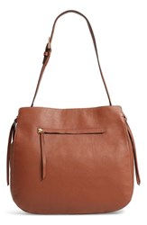 Nordstrom Finley Leather Hobo Brown Brown Aztec