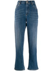 Brunello Cucinelli High Rise Boyfriend Jeans Blue