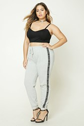 Forever 21 Plus Size Athletic Sweatpants Heather Grey Black