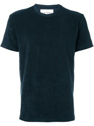 Our Legacy Terry Cloth T Shirt Blue