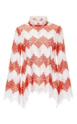 Macgraw Chevron Lace Steeple Top Red
