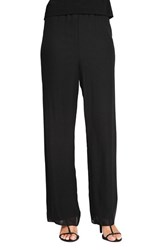 Alex Evenings Women's Chiffon Pants Black