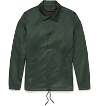 Acne Studios Tony Cotton Blend Lightweight Jacket Green