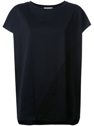 Stefano Mortari Contrast Loose Fit T Shirt Black