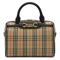 Burberry Beige 1983 Check Small Link Bowling Bag