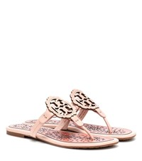 Tory Burch Miller Leather Sandals Pink