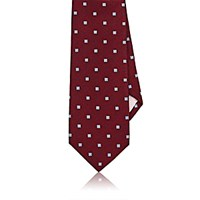 Fairfax Men's Square Pattern Silk Necktie Red