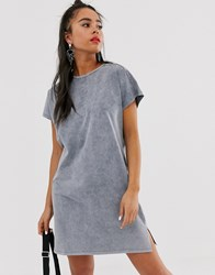 Bershka T Shirt Dress In Gray Gray