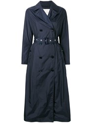 Mackintosh Navy Nylon Long Trench Coat Lm 091B Blue
