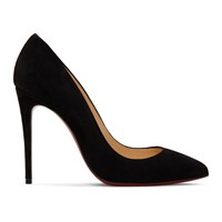 Christian Louboutin Black Suede Pigalle Heels