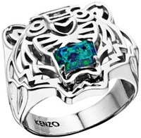 Kenzo 26383110205 Sterling Silver Ring Silver Metallic