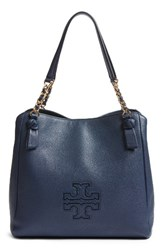 Tory Burch 'Harper' Leather Tote Blue Royal Navy