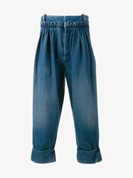 J.W.Anderson Baggy Cropped Jeans Denim Blue Black