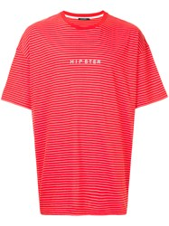 Guild Prime Striped Hipster T Shirt Red