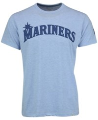 '47 Brand Men's Seattle Mariners Crossover Fieldhouse T Shirt Blue