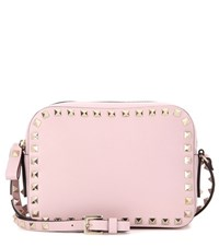 Valentino Rockstud Leather Cross Body Bag Pink