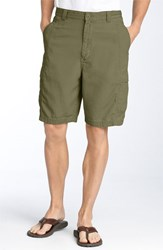 Men's Big And Tall Tommy Bahama 'Key Grip' Relaxed Fit Cargo Shorts Moss