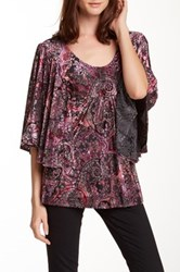 Voom By Joy Han Helena Trapeze Blouse Purple