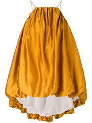 Mulberry Oversized Gathered Top Yellow And Orange