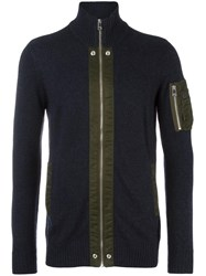 Diesel Zipped Cardigan Blue