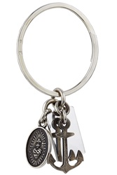 Werkstatt Munchen Faith Love Hope Sterling Silver Key Ring Gr. One Size