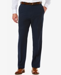 Haggar Men's Classic Fit Cool 18 Pro Hidden Extension Pants Navy