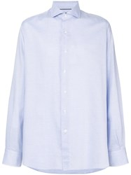 Orian Textured Button Shirt Blue