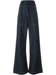 Marni Wide Leg Jeans Blue