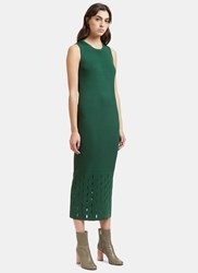 Nomia Ribbed Laser Cut Tank Dress Green