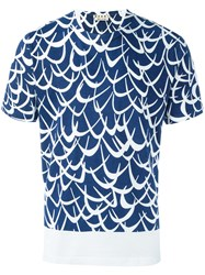 Marni Printed T Shirt Blue