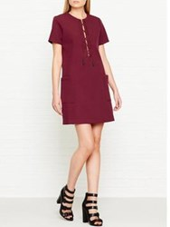 Kendall Kylie Safari Dress Bordeaux Burgundy
