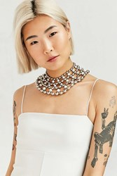We Who Prey Marble Multiverse Ball Chain Collar Necklace Silver