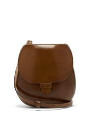 Christophe Lemaire Cartridge Leather Cross Body Bag Tan