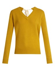 Joseph V Neck Cashmere Sweater Yellow