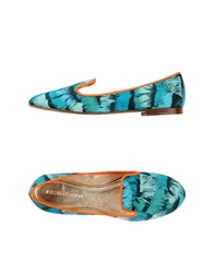 Avec Moderation Moccasins Turquoise