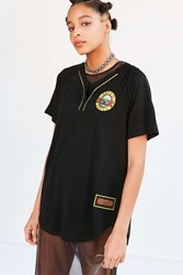 Urban Outfitters Classic Rock Baseball Jersey Washed Black