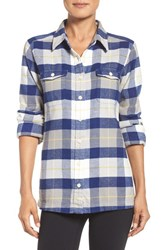 Patagonia Women's 'Fjord' Flannel Shirt Tree Crown Harvest Moon Blue