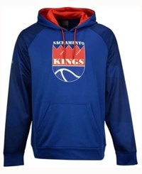Majestic Men's Sacramento Kings Armor Ii Hoodie Royalblue Red