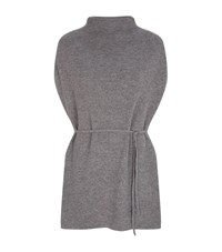 Theory Lotunia High Neck Sleeveless Cashmere Top Female Grey