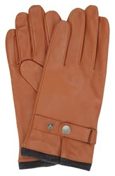 Ben Sherman Men's Original Penguin Leather Driving Gloves With Knit Lining Desert Sand