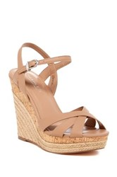 Charles By Charles David Astro Leather Espadrille Wedge Sandal Brown