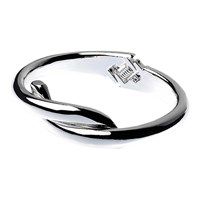 Adele Marie Cross Over Hinged Bracelet Silver