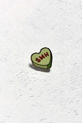 Urban Outfitters Uo Heart Smh Pin Chartreuse
