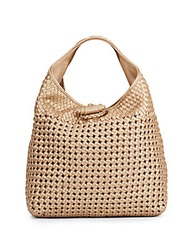 Sondra Roberts Woven Faux Leather Hobo
