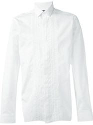 Lanvin Pleated Detail Shirt White