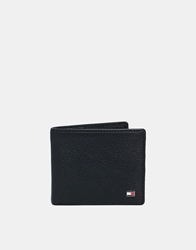 Tommy Hilfiger Hampton Leather Billfold Wallet Black