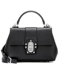 Dolce And Gabbana Lucia Leather Shoulder Bag Black